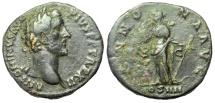 Ancient Coins - Antoninus Pius, 138-161 AD. AE Sestertius, Annona Reverse