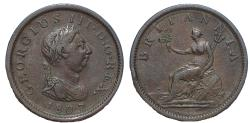 World Coins - Great Britain, George III, 1760-1820. Penny. Dated 1807.
