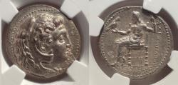 Ancient Coins - Alexander III the Great (336-323 BC). AR tetradrachm. Babylon mint. NGC AU 4/5.