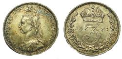 World Coins - Victoria. 1837-1901. AR Threepence. Jubilee coinage. London mint. Dated 1887
