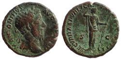 Ancient Coins - Marcus Aurelius (161-180), Ae As. SECVRITAS PVBLICA, Rare