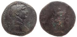 Ancient Coins - Trajan. AD 98-117. Æ Sestertius