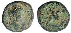 Ancient Coins - Septimius Severus 193-211 AD. AE (Limes) denarius, Rare.