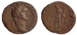 Ancient Coins - Domitian. AD 81-96. Æ As, Moneta