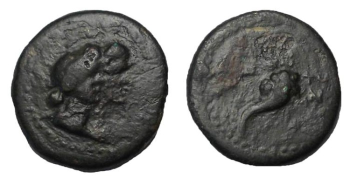Ancient Coins - Alexander I Balas, 150-145 BC.  AE 16 mm.  Rare