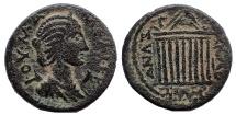 Ancient Coins - Cilicia, Anazarbus. Julia Mamaea. Augusta, AD 222-235. Æ Triassarion