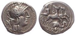 Ancient Coins - L. Caecilius Metellus Diadematus. 128 BC. AR Denarius