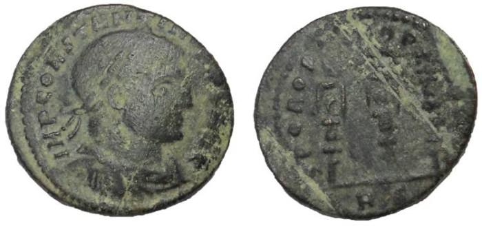 Ancient Coins - Constantine I, 307-337 AD. Æ Follis, OPTIMO PRINCIPI Reverse