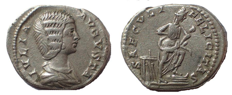 Ancient Coins - Julia Domna, wife of Septimius Severus. AR Denarius