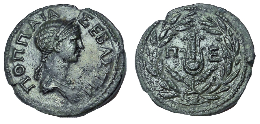 Ancient Coins - Thrace, Perinthus. Poppaea. Augusta, AD 62-65. Æ 27