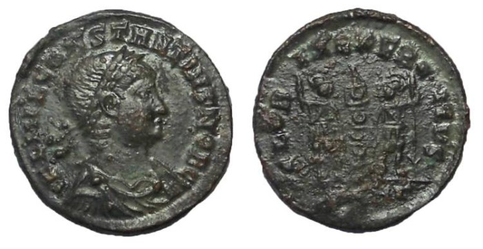 Ancient Coins - Constantius II, 337-361 AD.  Bronze AE 3