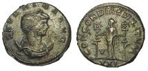Ancient Coins - Severina, wife of Aurelian, 270-275 AD. AR Antoninianus