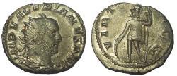 Ancient Coins - Valerian, 253-260 AD. AR Antoninianus, Virtus Reverse