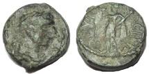 Ancient Coins - Lucania, Paestum. Tiberius. AD 14-37. Æ 16