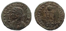 Ancient Coins - Constantine II, as Caesar, Æ Nummus. Trier, AD 321. Very Rare.