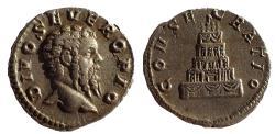 Ancient Coins - Divus Septimius Severus (Died 211). Denarius.