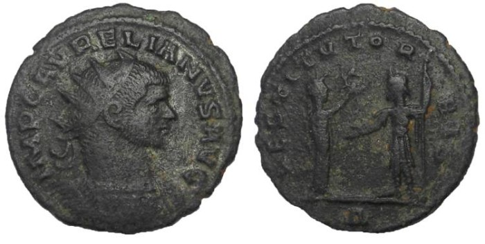 Ancient Coins - Aurelian, 270-275 AD.  AE Antoninianus