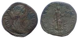 Ancient Coins - Faustina Jr, 175-180 AD. AE Sestertius. SIDERIBVS RECEPTA. 21+ year pedigree.
