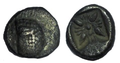 Ancient Coins - Ionia, Miletos. Late 6th-early 5th century BC. AR Diobol
