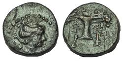 Ancient Coins - AEOLIS, Kyme.Circa 165-early 1st century BC. Æ 15