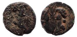 Ancient Coins - Mysia. Cyzicus. Britannicus with Antonia and Octavia (41-55). Ae 12 Rare.