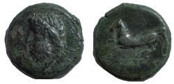 Ancient Coins - Sicily, Syracuse, c. 343-334 BC. Æ Dilitron