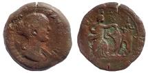 Egypt, Alexandria. Faustina Junior. Augusta, AD 147-175. Æ Drachm, Lighthouse of Alexandria, Rare.