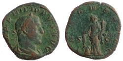 Ancient Coins - Philip I, 244-249 AD, Sestertius. Annona Reverse