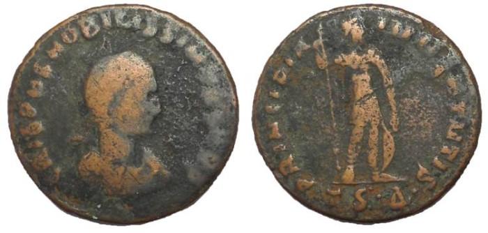 Ancient Coins - Crispus, as Caesar 317-326 AD.  AE Follis.  Rare