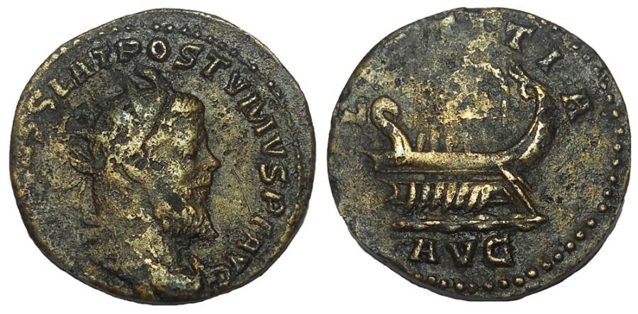 Ancient Coins - Postumus, 260-269 AD. Æ Double Sestertius