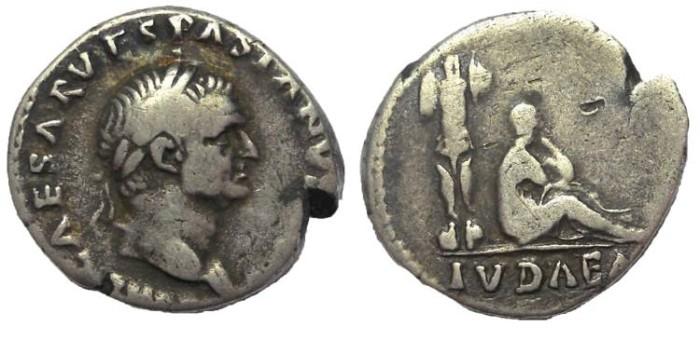Ancient Coins - Vespasian, 69-79 AD. AR denarius, Judaea Capta issue
