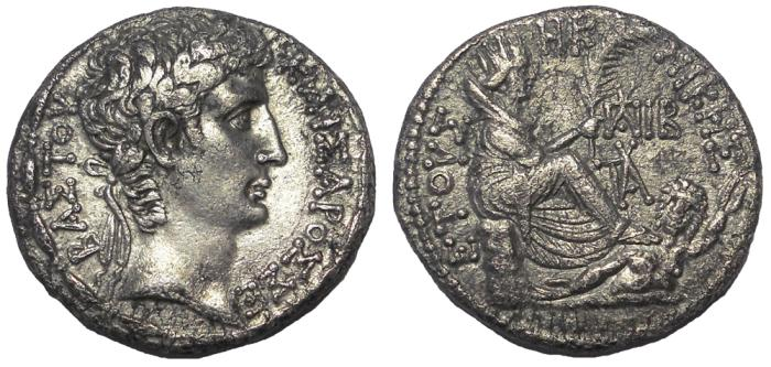 Ancient Coins - Antioch: Augustus, 27 BC-14 AD.  AR Tetradrachm