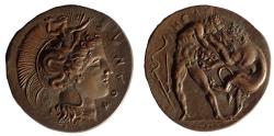 World Coins - Large bronze replica of Lucania Herakleia. 42 mm dia.