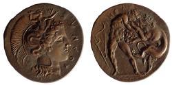 World Coins - Large bronze replica of Lucania Herakleia. 42 mm dia.
