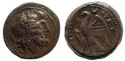 Ancient Coins - Bruttium. The Bretti. Ca. 214-211 BC. AE reduced uncia