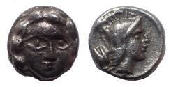 Ancient Coins - Pamphylia, Aspendos. Circa 420-360 BC. AR Obol