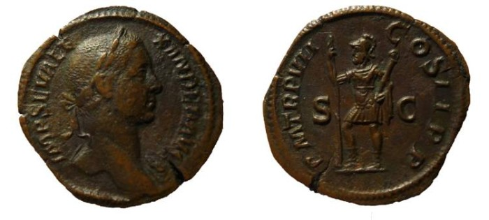Ancient Coins - Severus Alexander. AD 222-235. VF/EF Sestertius