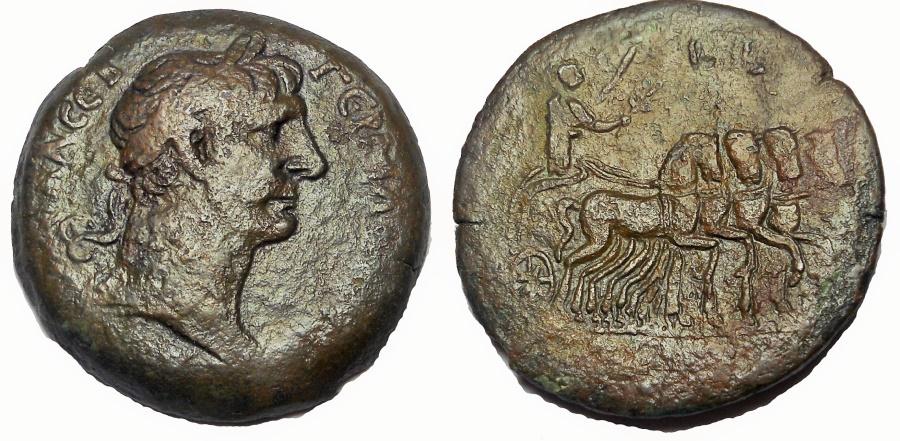 Ancient Coins - Egypt, Alexandria.Trajan.AD 98-117. Æ Drachm