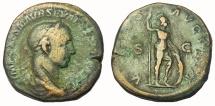 Ancient Coins - Severus Alexander, 222-235 AD.  AE Sestertius, Virtus Reverse