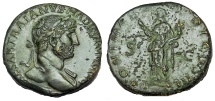 Ancient Coins - Hadrian. AD 117-138. Æ Sestertius
