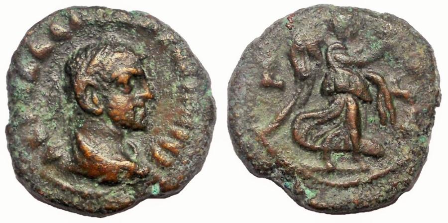 Ancient Coins - Egypt, Alexandria: Diocletian, 284-305 AD. Æ Tetradrachm, Nike Reverse