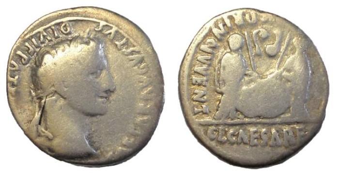 Ancient Coins - Augustus, 27 BC-14 AD, AR Denarius