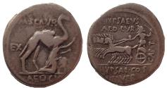 Ancient Coins - M. Aemilius Scaurus and Pub. Plautius Hypsaeus. 58 BC. AR Denarius