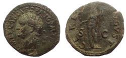 Ancient Coins - Titus, as Caesar, AD 79-81, Ae Dupondius. Rare.