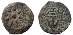 Ancient Coins - Judaea, Hasmoneans.Alexander Jannaeus.103-76 BCE. Æ Prutah. Widow's mite