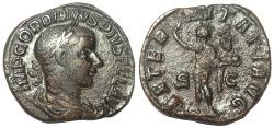 Ancient Coins - Gordian III, 238-244 AD. Æ Sestertius, Aeternitas Reverse