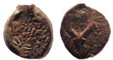 Ancient Coins - Judaea, Hasmoneans. John Hyrkanos I (Yehohanan). 135-104 BCE. Æ Prutah