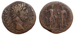 Ancient Coins - Aelius. Caesar, AD 136-138. Æ Sestertius, Rare