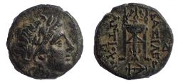 Ancient Coins - Seleukid Kings of Syria. Antiochos II Theos. 261-246 BC. Æ 17