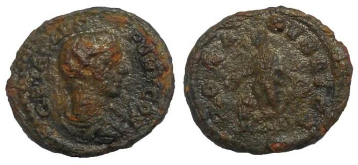 Ancient Coins - Geta, 209-211 AD. Limes Denarius or Fouree Counterfeit Core